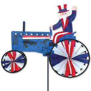 Uncle Sam on a Tractor - 22in Spinner