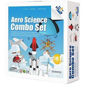 PLAYSTEAM 5-in-1 Aero Science Combo Flight Learning Set