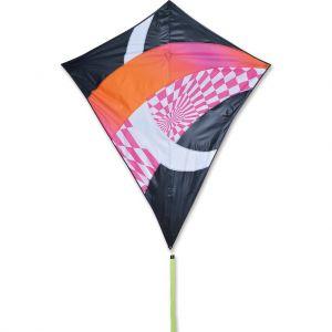 52 in. Travel Diamond Kite - Hot Tronic