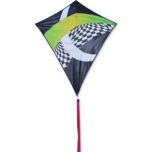 38 in. Travel Diamond Kite - Neon Tron