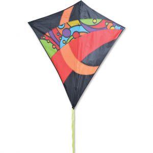 38 in. Travel Diamond Kite - Orbit Tron