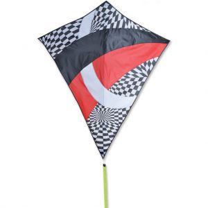 52 in. Travel Diamond Kite - Tecmo Tron