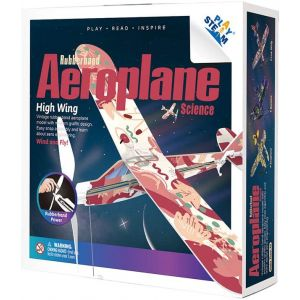 PLAYSTEAM Rubber Band Aeroplane High Wing STEM Kit