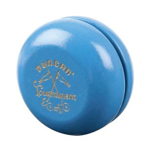 Wooden Crossed Flags Tournament YoYo - Blue