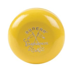 Wooden Crossed Flags Tournament YoYo - Yellow