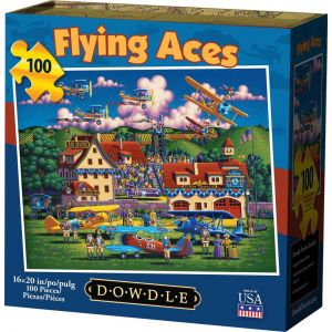 FLYING ACES - TRADITIONAL PUZZLE 100 PIECE