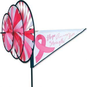 Pink Ribbon - Triple Spinner