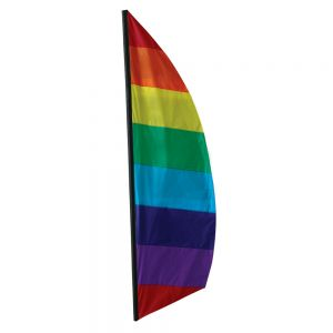Rainbow 8.5 ft Feather Banner